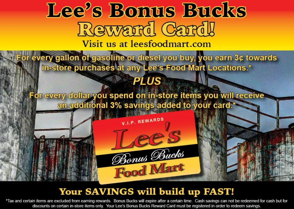 Lee Oil Bonus Bucks flyer for Wanda